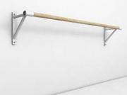Станок хореографический одинарный крепление к стене L=1500 мм (поручень-береза), секц